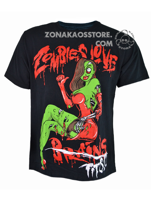 T-Shirt Uomo Love Zombie Heartless 1