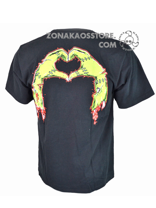 T-Shirt Uomo Love Zombie Heartless 2